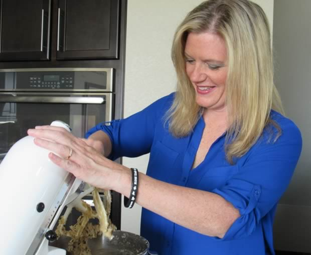 Melissa Grosboll, founder, in the test kitchen